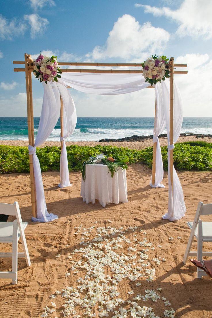 Kauai Beach Wedding, simple but chic
