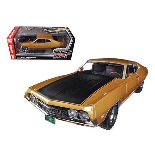 "1970 Ford Torino Cobra 429 4V Bright Gold Poly Code ""K"" 1/18 Limited to 1250pc by Autoworld"