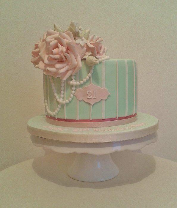 21st Birthday cake - by THE BRIGHTON CAKE COMPANY @ CakesDecor.com - cake decorating website