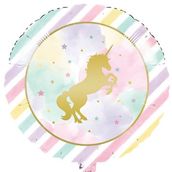 Metallic Unicorn Large Foil Balloon Party Supplies Canada - Open A Party