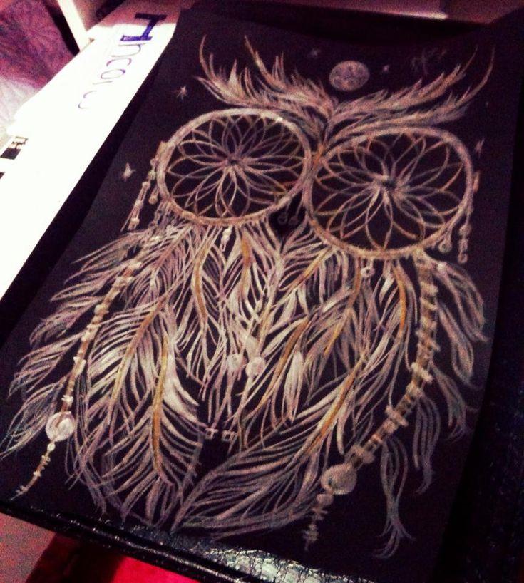 Owl dreamcatcher drawing - photo#53