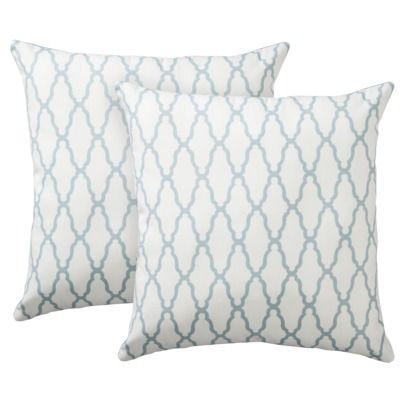 """Threshold™ 2-Pack Trellis Toss Pillows (18x18"""")"""