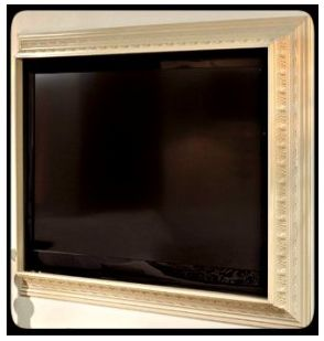 Unconventional Uses for Crown Molding - framing a tv