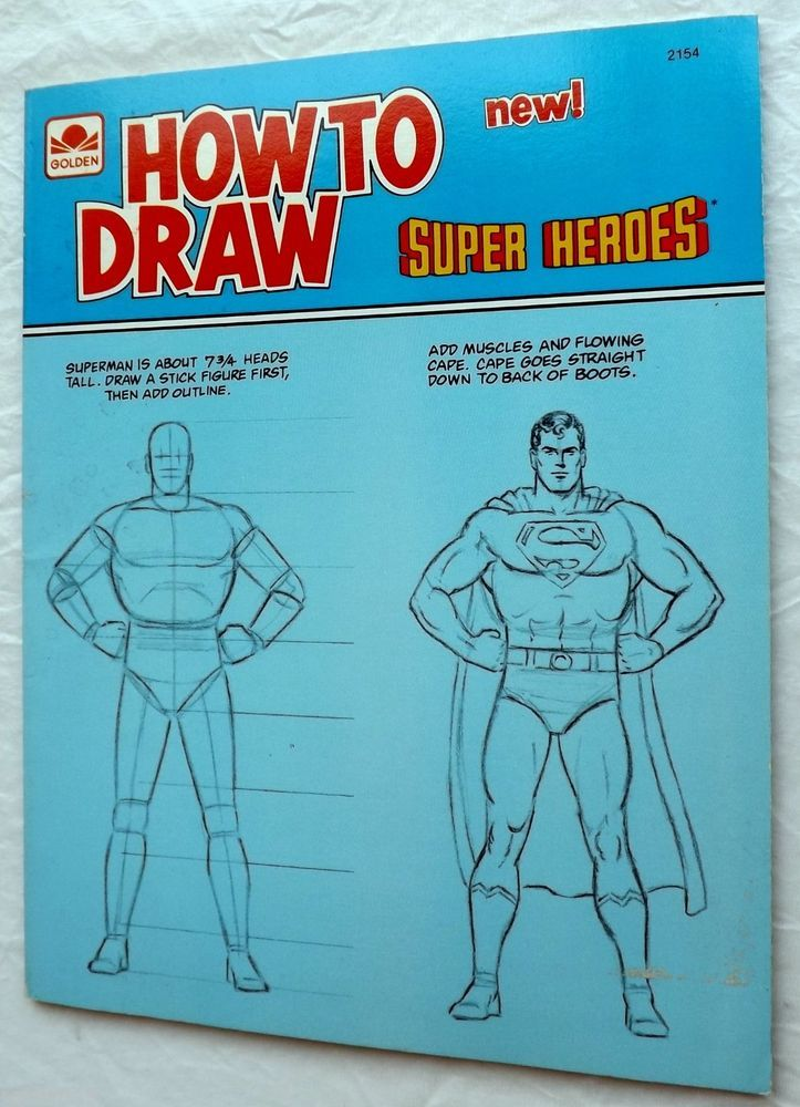 How to Draw Super Heroes 1983 Art Instruction Illustrated