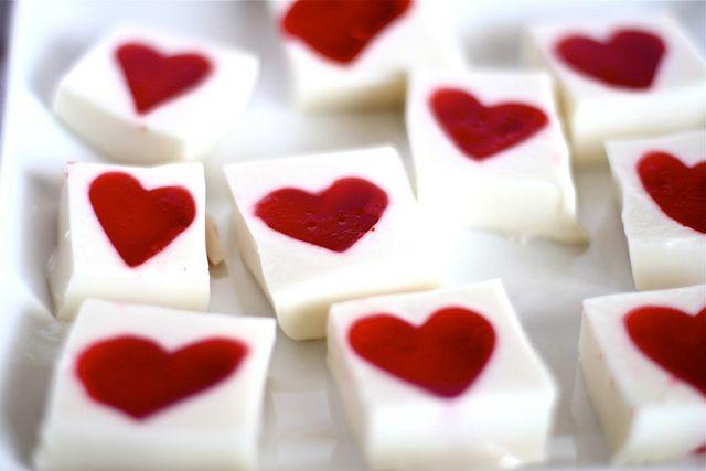 Valentine Jello Hearts (Click picture for recipe details)