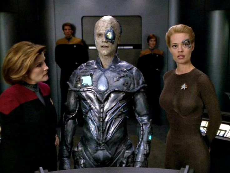 One | One was the designation of a Borg drone, created as a result of a transporter mishap that involved the Doctor's mobile emitter and Seven of Nine's nanoprobes. The mobile emitter, actually a 29th century piece of technology, was heavily damaged during transport and some of the nanoprobes were unknowingly incorporated into its circuitry. The emitter was taken to USS Voyager's science lab where it was subsequently assimilated by Seven's nanoprobes, and in turn began assimilating the lab.