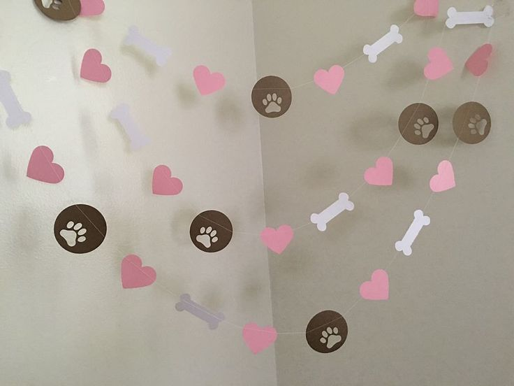 Puppy Dog Themed Paper Garland Puppy Birthday Decorations Dog Birthday Party Pawty Decorations Puppy Garland Puppy BannerCUSTOM COLORS 10ft by ClassicBanners on Etsy https://www.etsy.com/listing/448868362/puppy-dog-themed-paper-garland-puppy