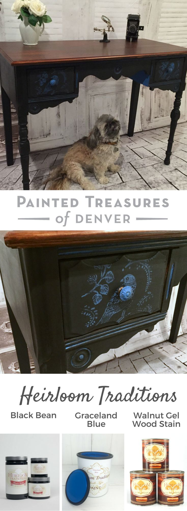 Gorgeous Simple Painted Black Desk I This In Heirloom Traditions Bean Chalk