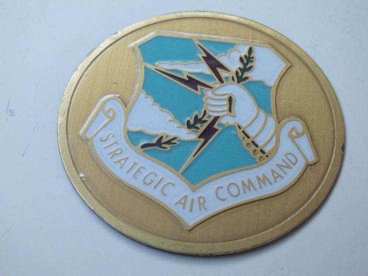 "USAF / Strategic Air Command 2"" Shiny Emblem, For Shadowbox or Display Items"