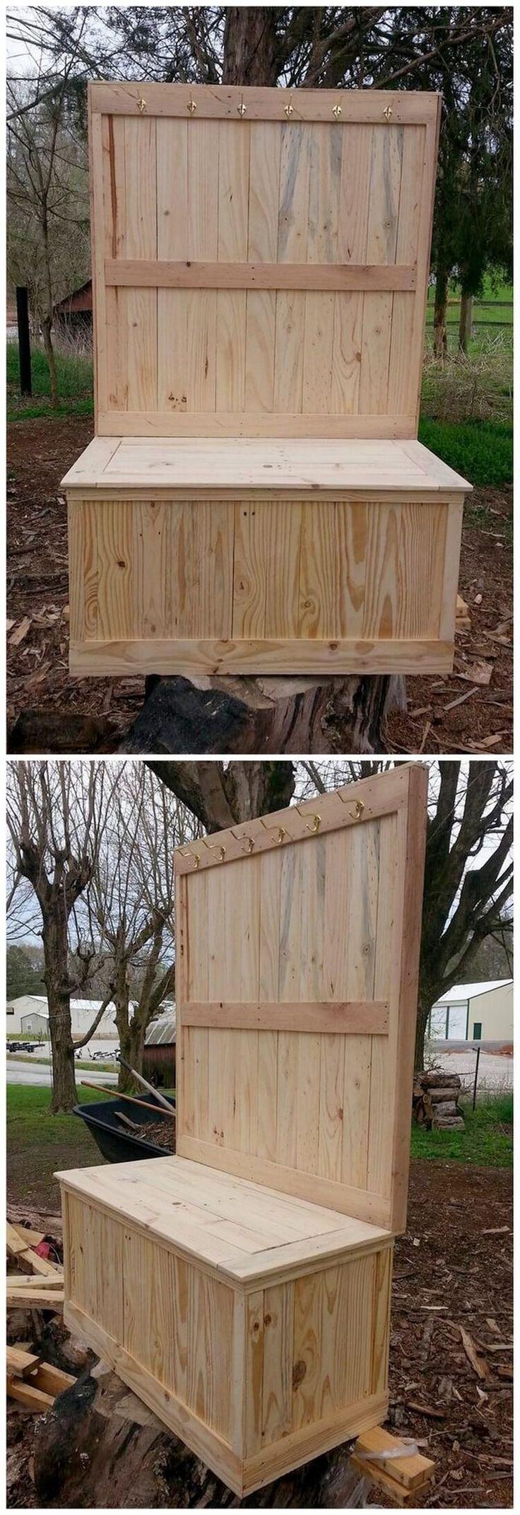Idées de bricolage intéressantes avec des palettes en bois recyclé- Interesting DIY Ideas with ...
