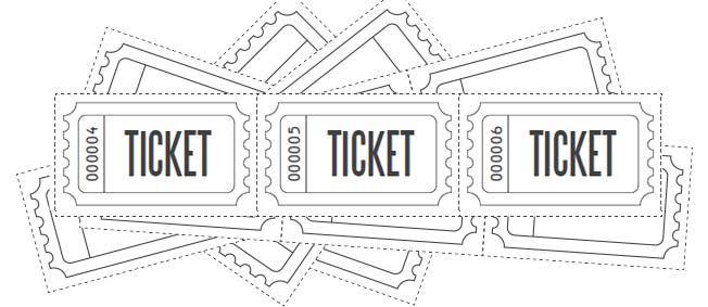 Customized Raffle Ticket Blanks