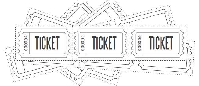 Customized Raffle Ticket Blanks