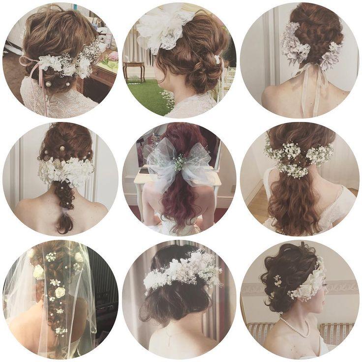 * * White ❄️ × wedding ❄️ * * 今日から金曜日まで セミナーのため台湾です * * お客様にはご迷惑おかけしますが よろしくお願いします。 * * * #ヘアアレンジ #ウェディング #マリhair