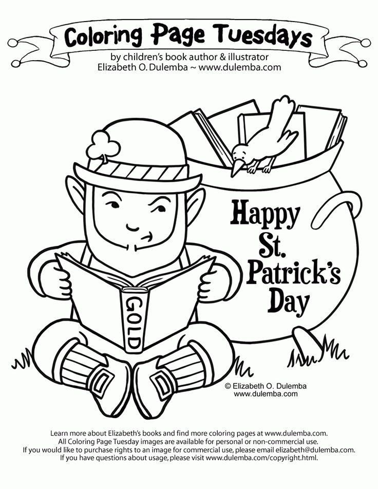 dulemba: Coloring Page Tuesdays St Patty Dog coloring