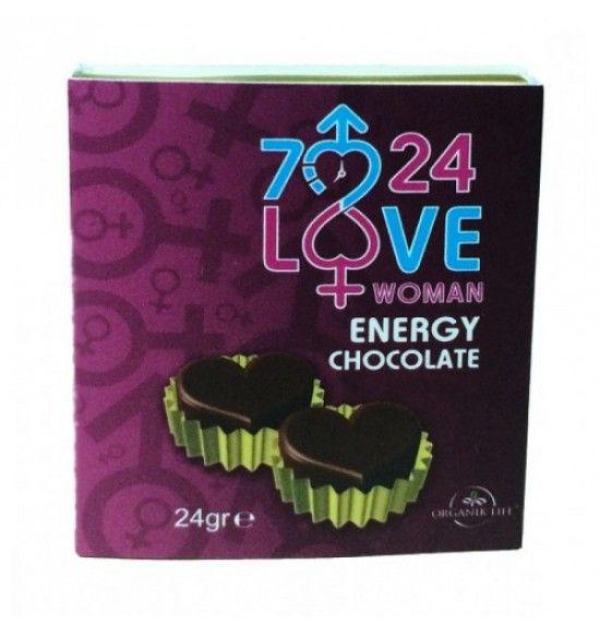 Love Kalpli Kadın Azdırıcı Çikolata 7/24