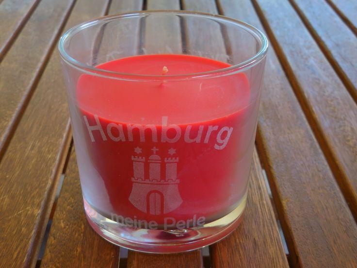 Duftkerze mit Gravur Hamburg meine Perle   #duftkerze #lasergravur #gravur #engrave #Hamburg #perle #geschenk