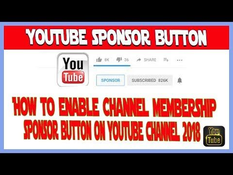 How To Enable Channel membership Sponsor Button On Youtube