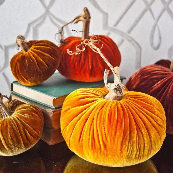 Velvet Pumpkins: Deluxe Harvest by PlushPumpkin on Etsy