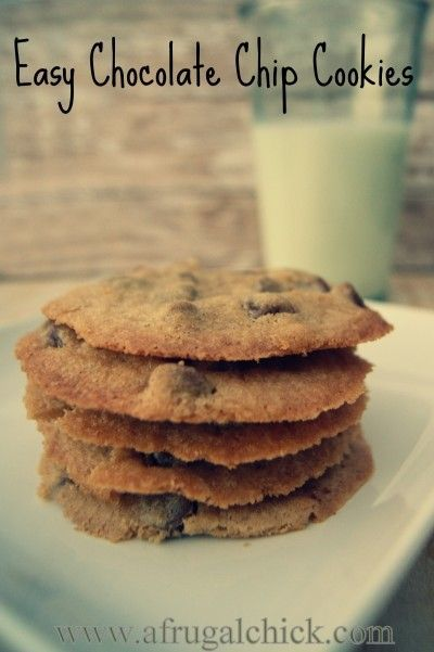 Easy Chocolate Chip Cookie Recipe- Only 5 Ingredients
