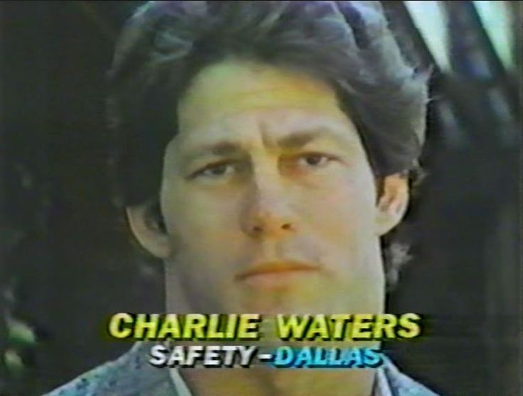 "CHARLIE WATERS (41) interviewed on ""The NFL Today"" for the Thanksgiving game--November 26, 1981"