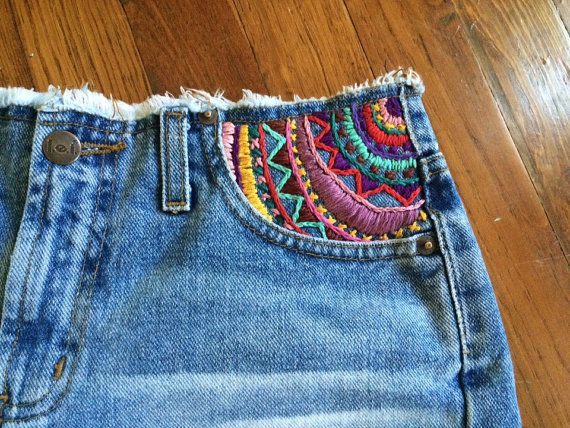 Boheemse kleren boho kleding hippie kleding jean shorts