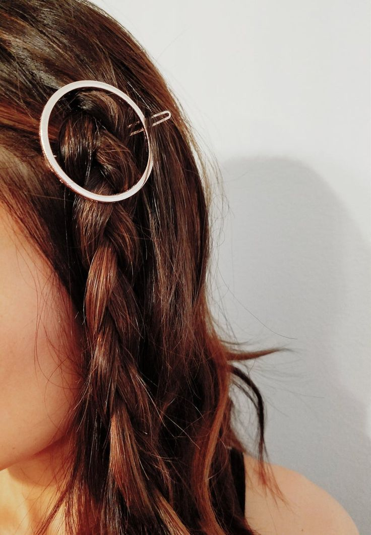 Free shipping customized 14 k gold plated round hairpin