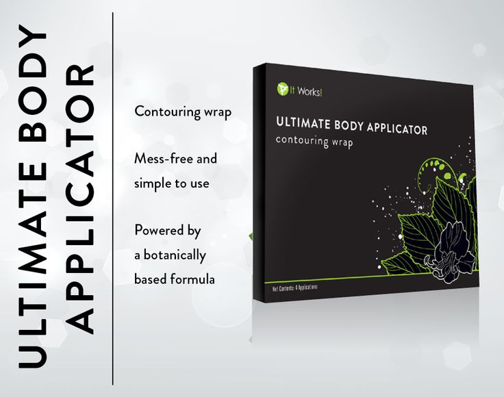 Ultimate Body Applicator (Contouring Wrap) contains 4 applicators per box