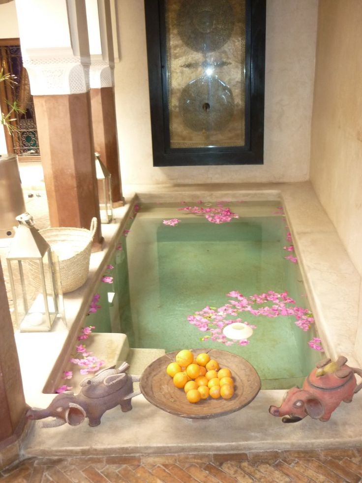 Plunge pool, Marrakech riad zamzam.  Nothing better than relaxing after a day of site seeing   #monogramsvacation