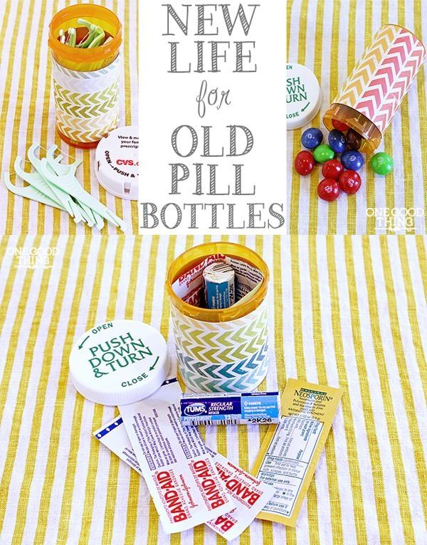 17 Ways To Repurpose Prescription Pill Bottles | One Good Thing By Jillee by antonia