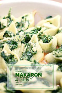 Muszle ze szpinakiem #pasta #makaron #przepisy #szpinak http://www.hafija.pl/2015/01/muszle-nadziewane-szpinakiem-i-czterema-serami-hafija-w-kuchni.html