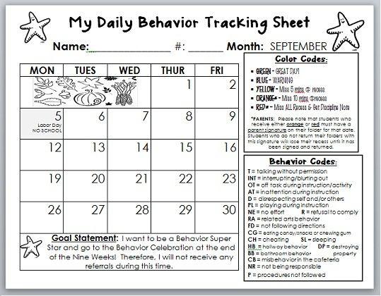 behavior management tracker - Google Search