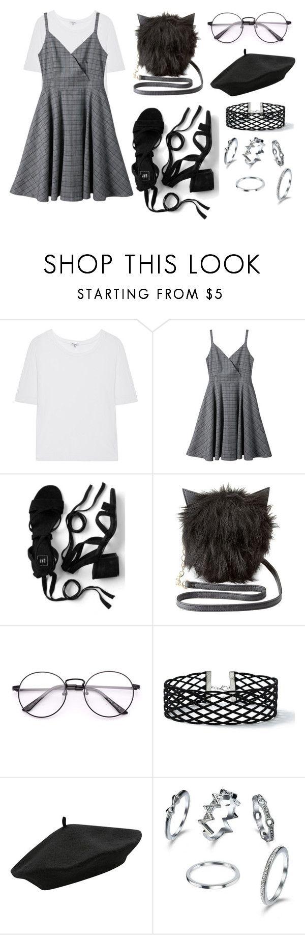 """Back to the 90's"" by ingrid-ramirez-trujillo on Polyvore featuring moda, Splendid, Charlotte Russe, Miss Selfridge, M&Co y blackandwhite"
