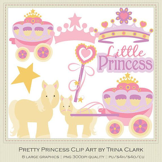 Pretty Princess Clip Art Graphics by Trina by marlodeedesigns, $1.35