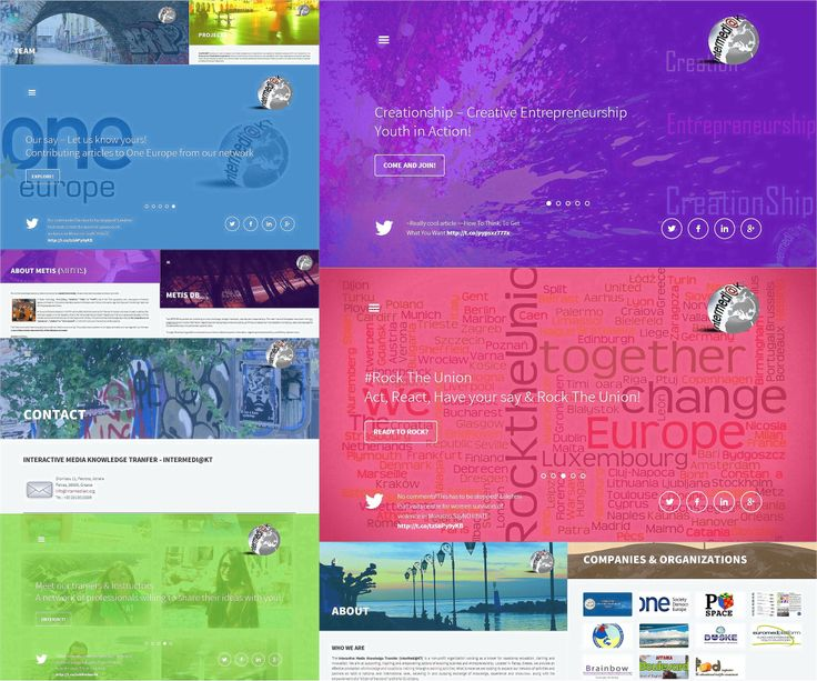Our Website collage