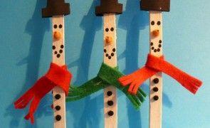 Lavoretti per bambini: Pupazzo di neve con i bastoncini del gelato