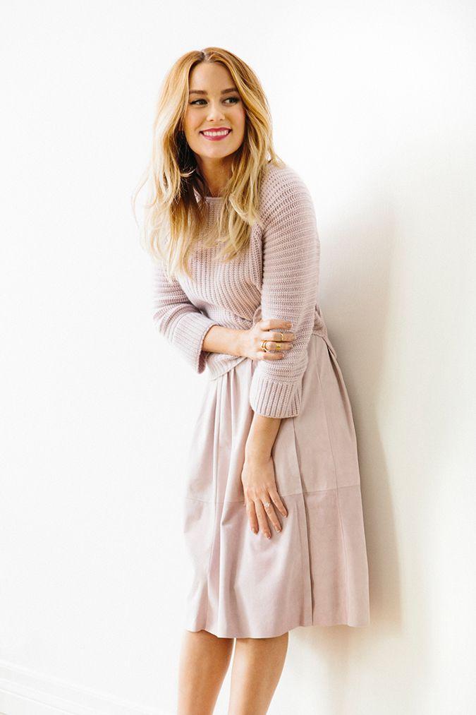 midi skirt + chunky knit