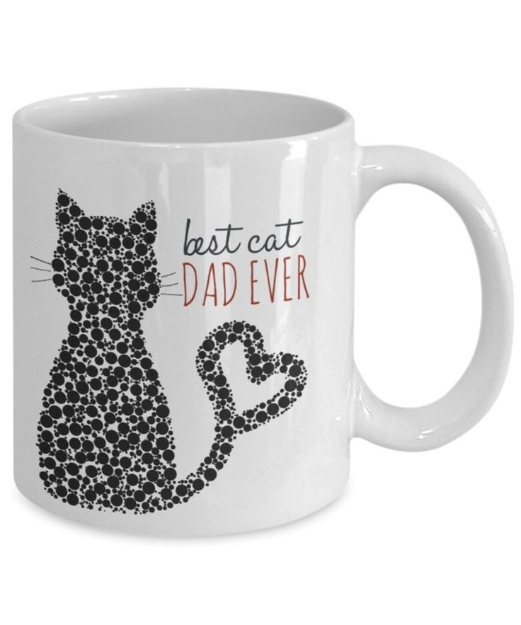 Cat Coffee Mug - Best Cat Dad Ever - 11 oz Gift Mug
