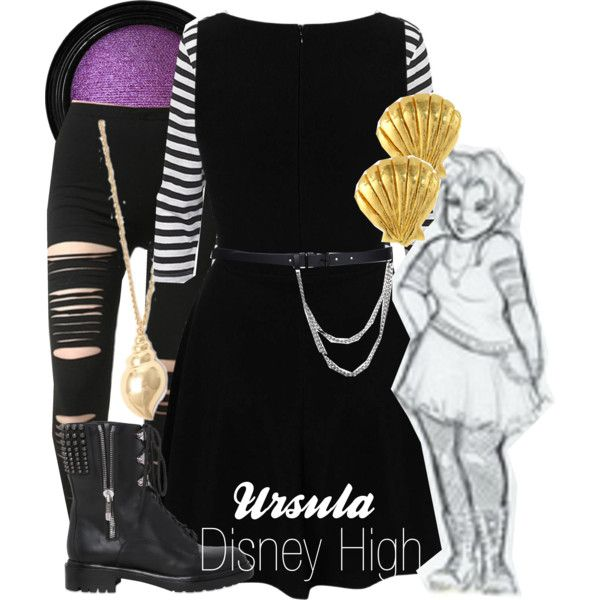 """""""Ursula Disney High"""" by amarie104 on Polyvore"""
