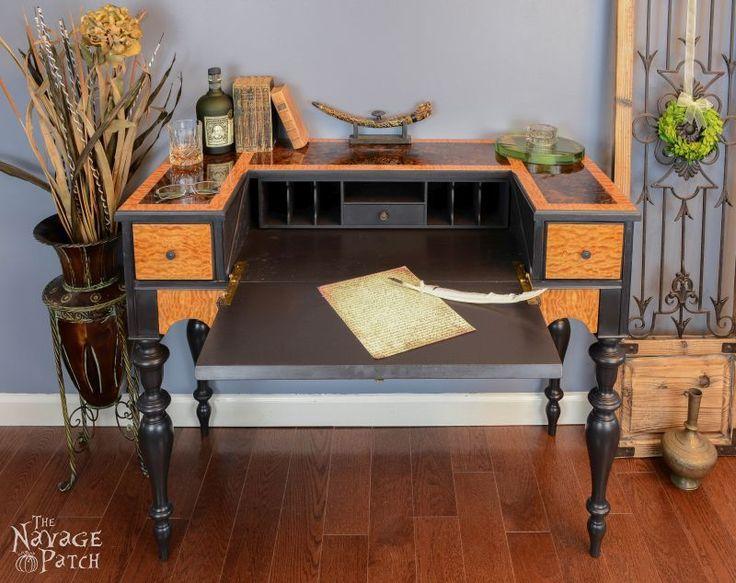 Veneer & Loathing {Antique Desk Makeover - 84 Best Study Images On Pinterest Antique Desk, Antique Writing