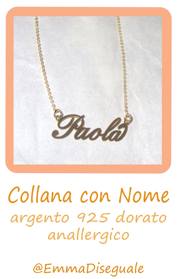 necklaces with name  silver 925  collana con nome