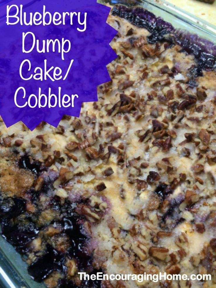 Easy Blueberry Dump Cake/Cobbler ~ great for potlucks, church socials, family reunions or anytime!