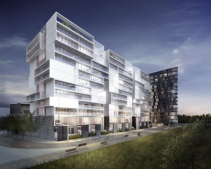 River City condominiums Phase 2, with Phase 1 in the background, image courtesy of Urban Capital #Architecture #Condo #Toronto #Rendering