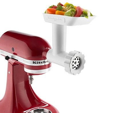 Used with any KitchenAid® stand mixer, this grinder attachment greatly expands your stand mixer's flexibility.