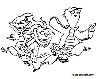 printable cartoon network characters ed edd n eddy coloring pages
