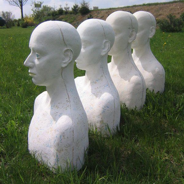 Anna Klimešová, Ma(e)n, 2004, 54 x 49 cm #clay #sculpture #man