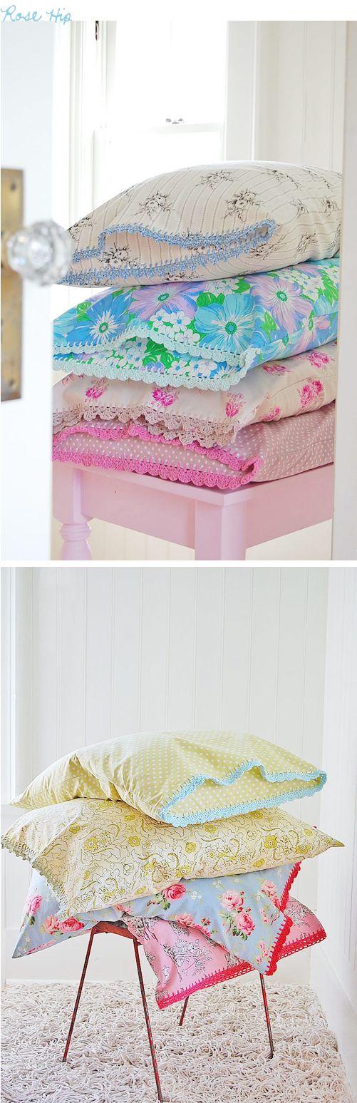 Rosehips pillowcases tutorial