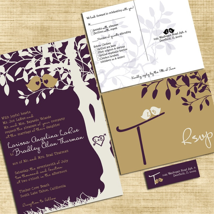 fast shipping wedding invitations%0A Custom Love Birdies Wedding Invitation Suite by InvitingMoments