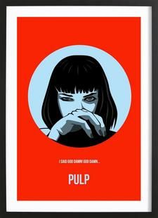 Pulp Poster 1 - Naxart - Affiche premium encadrée