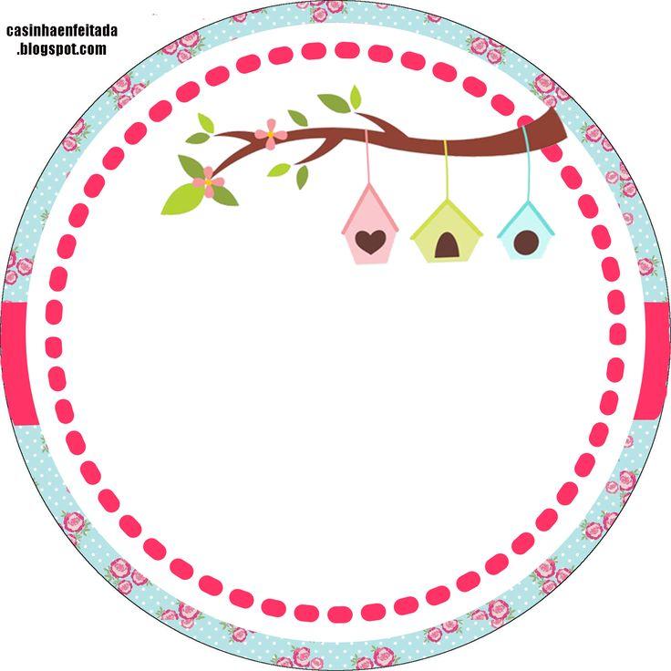 Casinha de Criança: Kit Festa Passarinhos Para Imprimir Grátis