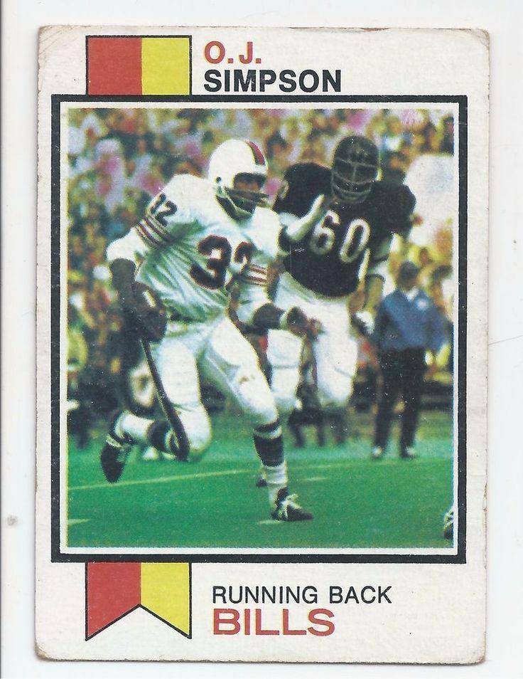 1973 O J Simpson Football Card NFL Hall of Famer #BuffaloBills